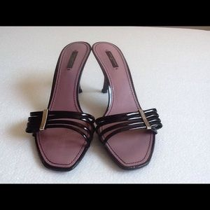 63bed6a1e100 Authentic Louis Vuitton Black Sandals